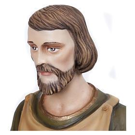 Statua San Giuseppe falegname 80 cm fiberglass PER ESTERNO s4