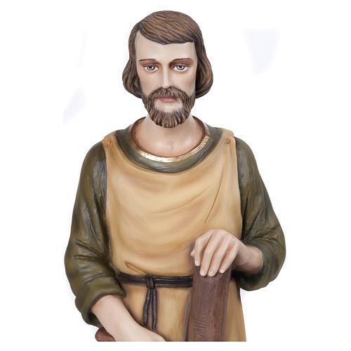 Statua San Giuseppe falegname 80 cm fiberglass PER ESTERNO 2