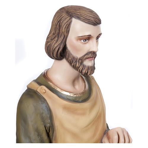 Statua San Giuseppe falegname 80 cm fiberglass PER ESTERNO 3