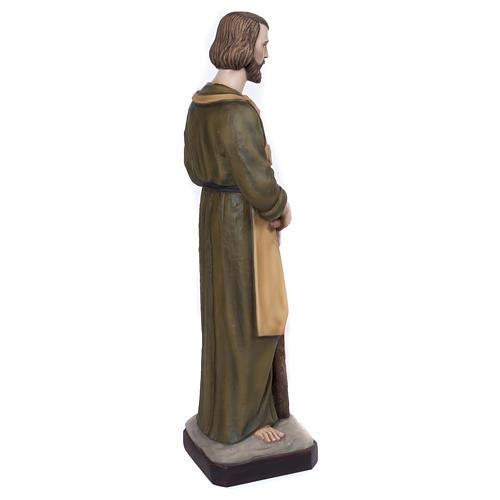 Statua San Giuseppe falegname 80 cm fiberglass PER ESTERNO 6