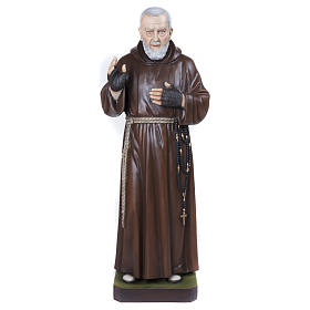 Statue Père Pio fibre de verre 110 cm POUR EXTÉRIEUR s1