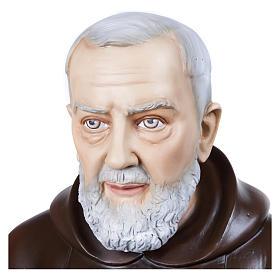 Statue Père Pio fibre de verre 110 cm POUR EXTÉRIEUR s2