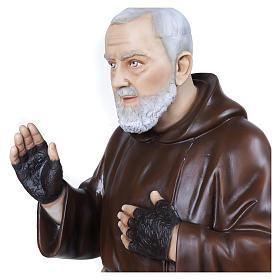 Statue Père Pio fibre de verre 110 cm POUR EXTÉRIEUR s3