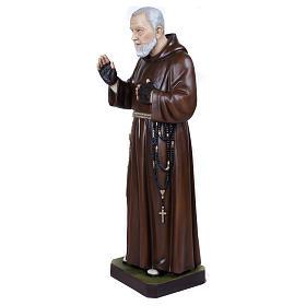Statue Père Pio fibre de verre 110 cm POUR EXTÉRIEUR s4