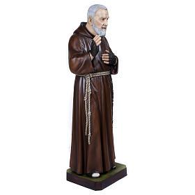 Statue Père Pio fibre de verre 110 cm POUR EXTÉRIEUR s7