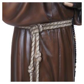 Statue Père Pio fibre de verre 110 cm POUR EXTÉRIEUR s8
