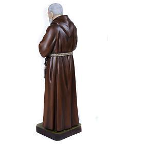 Statue Père Pio fibre de verre 110 cm POUR EXTÉRIEUR s9