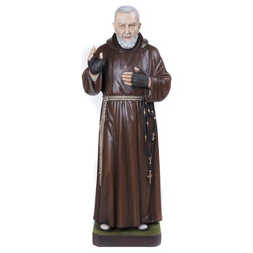 Statue Père Pio fibre de verre 110 cm POUR EXTÉRIEUR 1