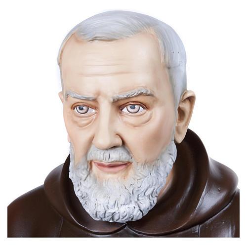 Statue Père Pio fibre de verre 110 cm POUR EXTÉRIEUR 2
