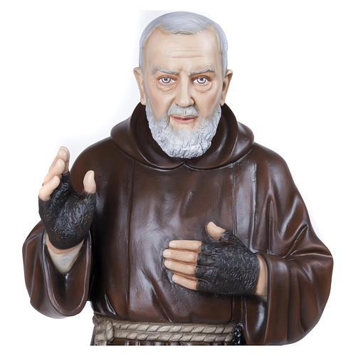 Statue Père Pio fibre de verre 110 cm POUR EXTÉRIEUR 6