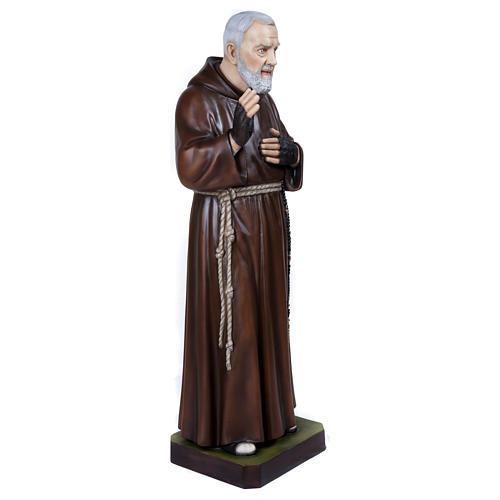 Statue Père Pio fibre de verre 110 cm POUR EXTÉRIEUR 7