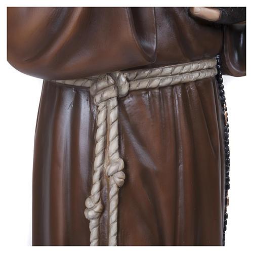 Statue Père Pio fibre de verre 110 cm POUR EXTÉRIEUR 8