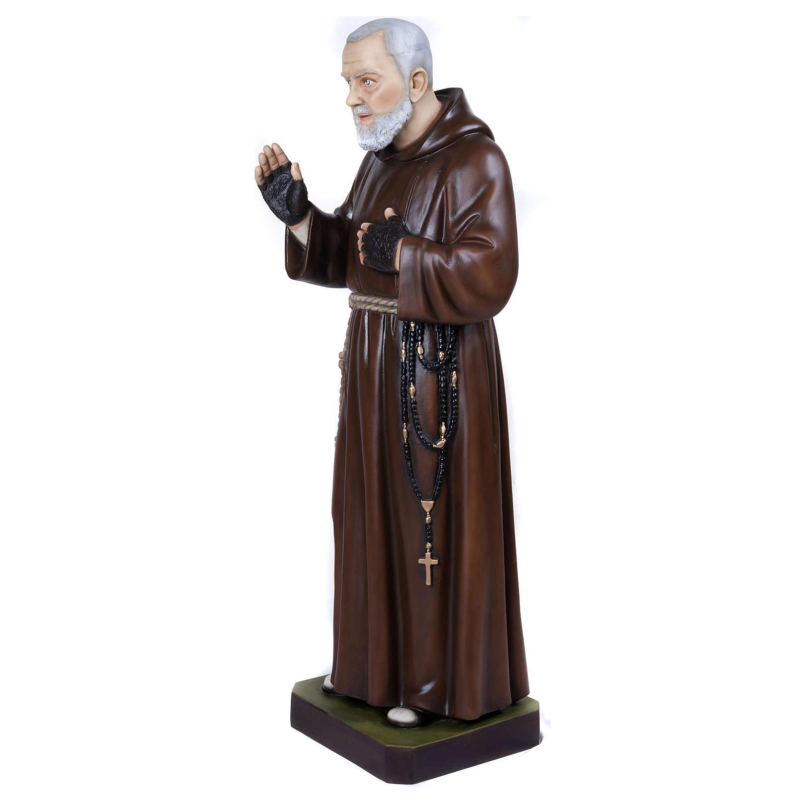 Statua Padre Pio 110 cm vetroresina PER ESTERNO 4