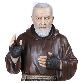 Statua Padre Pio 110 cm vetroresina PER ESTERNO s6