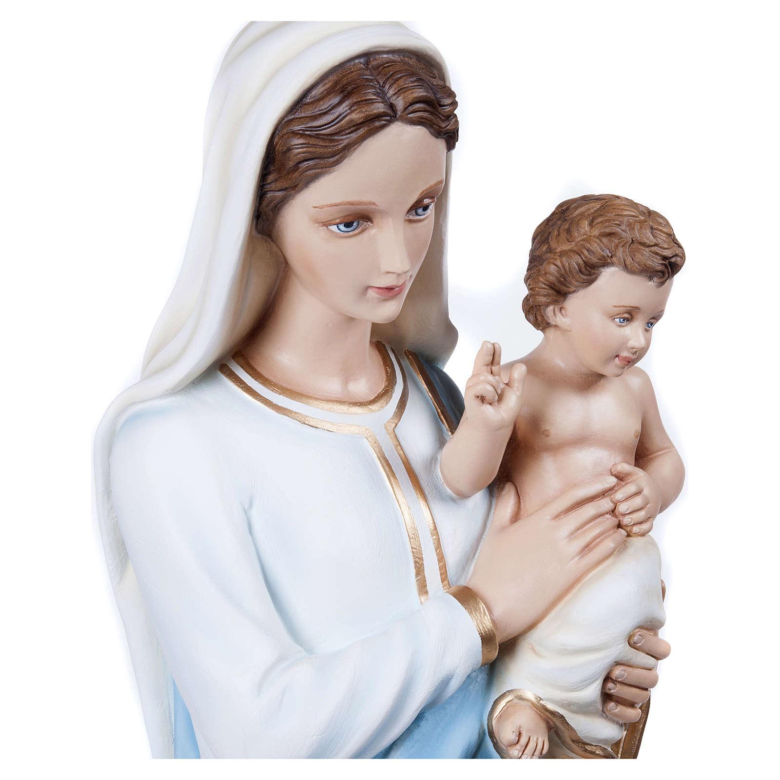 Estatua Virgen con Niño 100 cm fiberglass PARA EXTERIOR 4