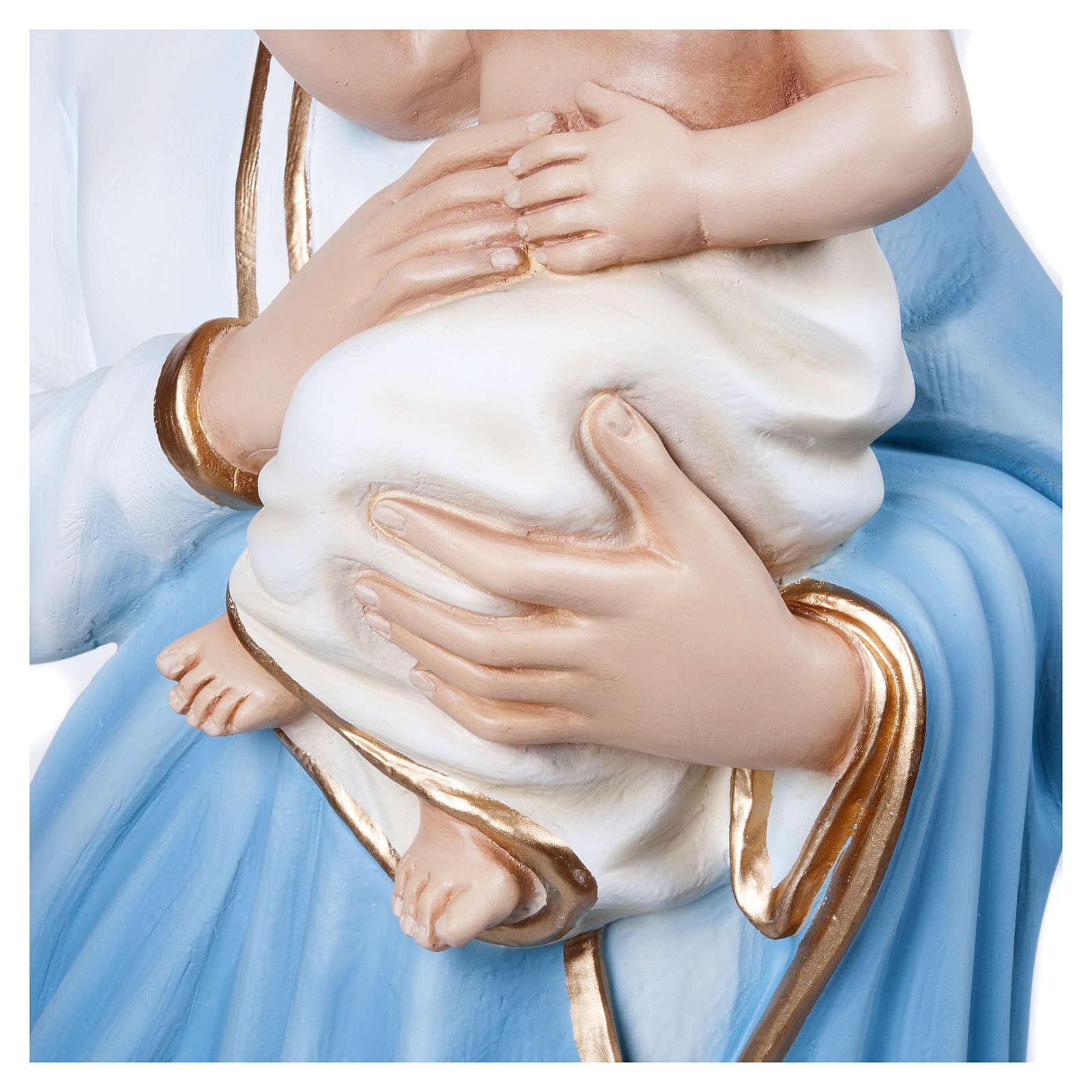 Statua Madonna con Bambino 100 cm fiberglass PER ESTERNO 4