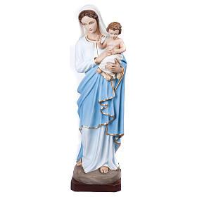 Statua Madonna con Bambino 100 cm fiberglass PER ESTERNO s1
