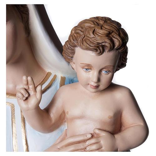 Statua Madonna con Bambino 100 cm fiberglass PER ESTERNO 2