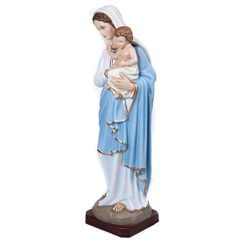 Statua Madonna con Bambino 100 cm fiberglass PER ESTERNO 3