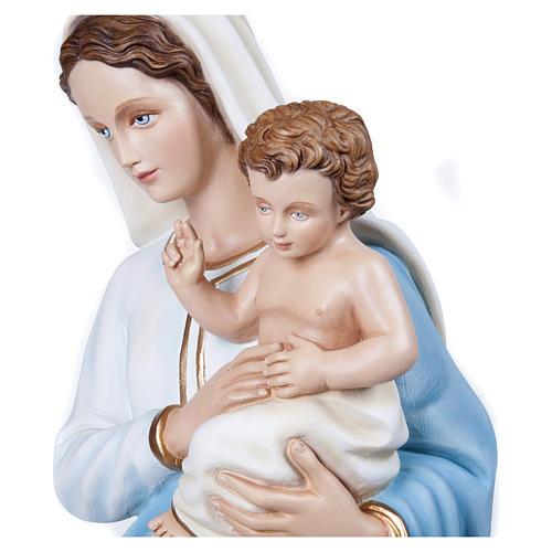 Statua Madonna con Bambino 100 cm fiberglass PER ESTERNO 5
