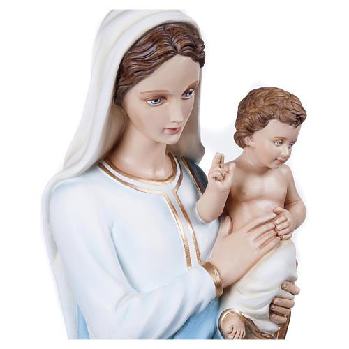 Statua Madonna con Bambino 100 cm fiberglass PER ESTERNO 7