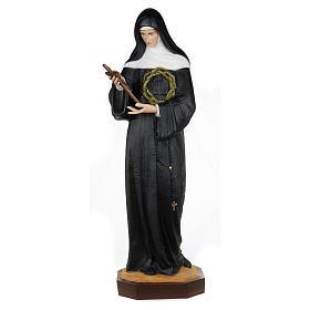 Statue of St. Rita of Cascia in fibreglass 100 cm for EXTERNAL USE s1