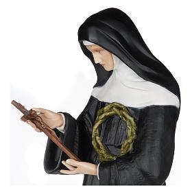 Statue of St. Rita of Cascia in fibreglass 100 cm for EXTERNAL USE s3