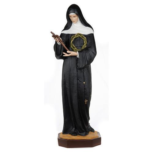 Statue of St. Rita of Cascia in fibreglass 100 cm for EXTERNAL USE 1