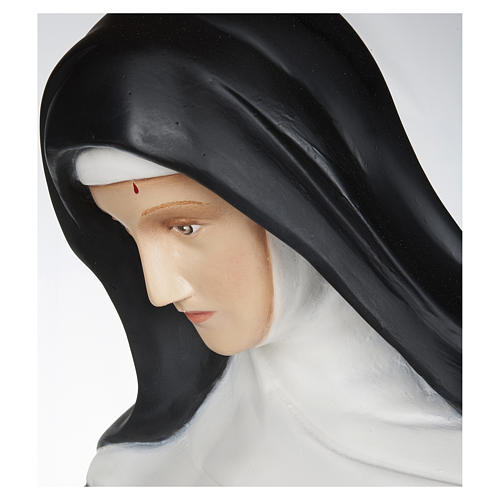 Statue of St. Rita of Cascia in fibreglass 100 cm for EXTERNAL USE 4