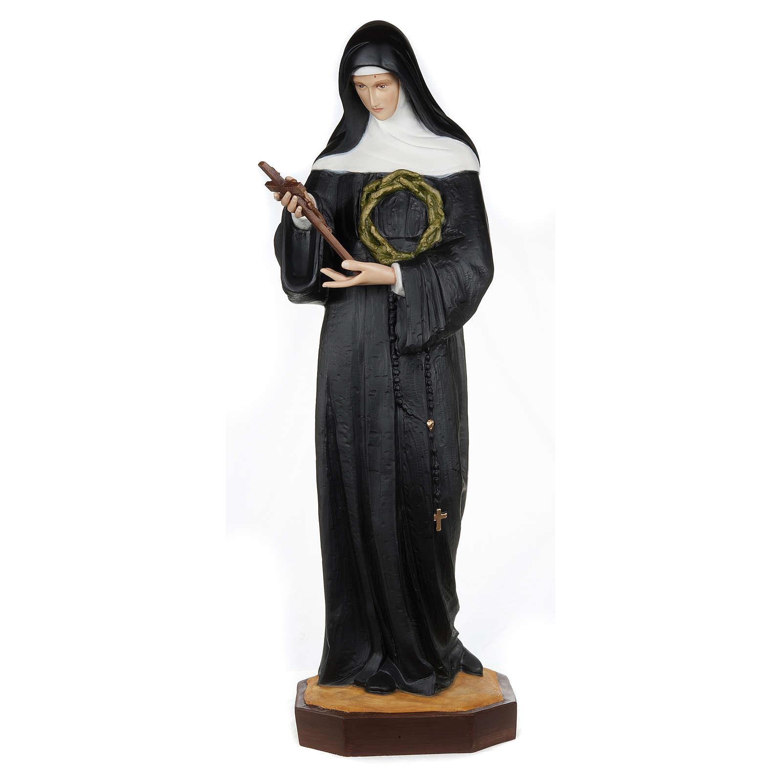 Statua Santa Rita da Cascia 100 cm fiberglass PER ESTERNO 4