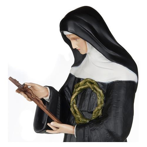 Statua Santa Rita da Cascia 100 cm fiberglass PER ESTERNO 3