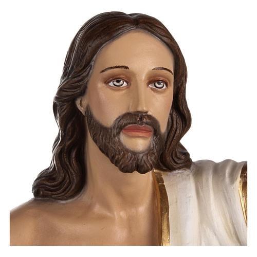 Estatua Cristo Resucitado fiberglass 85 cm PARA EXTERIOR