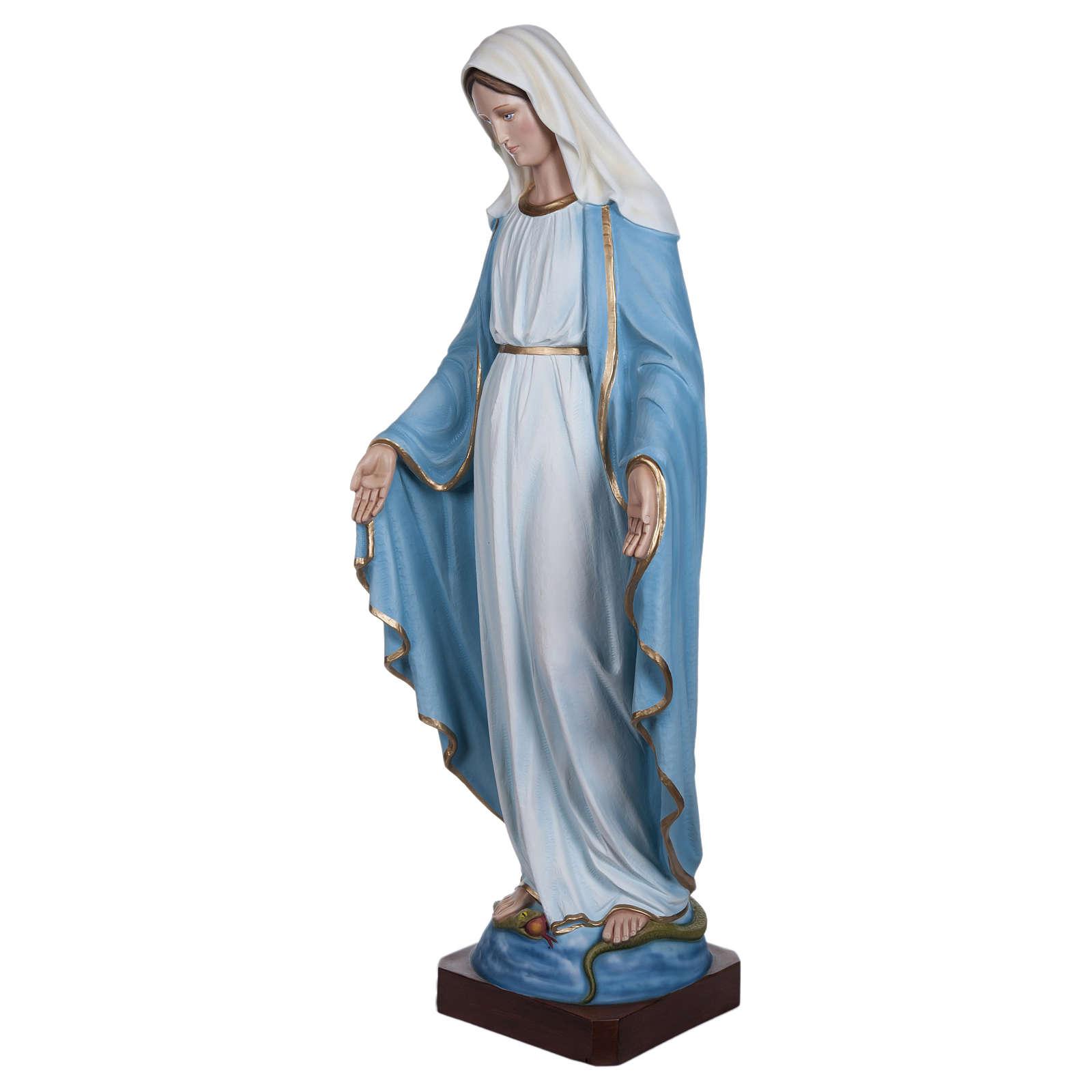 Estatua Virgen Inmaculada fibra de vidrio 130 cm PARA EXTERIOR 4