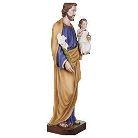 Estatua San José con Niño fibra de vidrio 100 cm PARA EXTERIOR s7