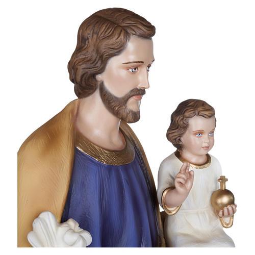 Estatua San José con Niño fibra de vidrio 100 cm PARA EXTERIOR 8