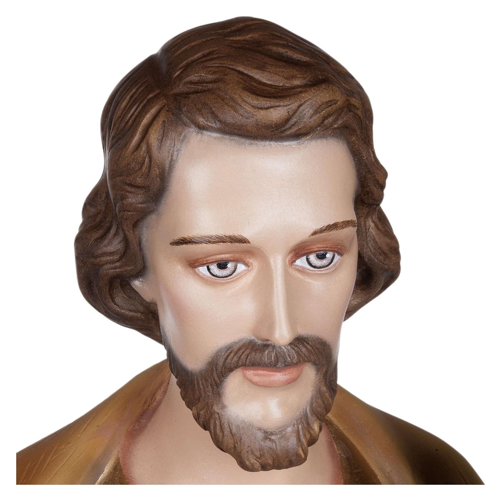 Statua San Giuseppe con Bambino vetroresina 100 cm PER ESTERNO 4