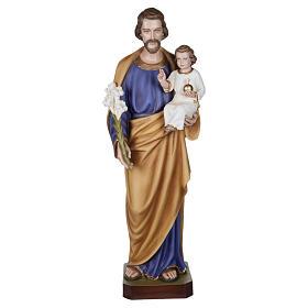 Statua San Giuseppe con Bambino vetroresina 100 cm PER ESTERNO