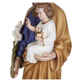 Statua San Giuseppe con Bambino vetroresina 100 cm PER ESTERNO s3