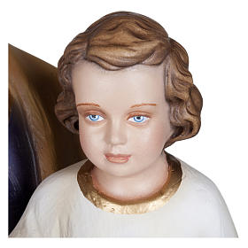 Statua San Giuseppe con Bambino vetroresina 100 cm PER ESTERNO s6