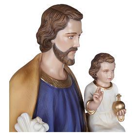Statua San Giuseppe con Bambino vetroresina 100 cm PER ESTERNO s8