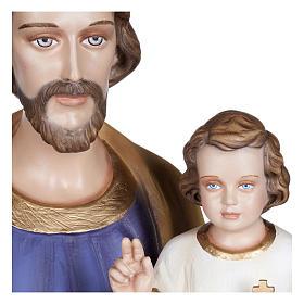 Statua San Giuseppe con Bambino vetroresina 100 cm PER ESTERNO s10