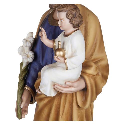 Statua San Giuseppe con Bambino vetroresina 100 cm PER ESTERNO 3