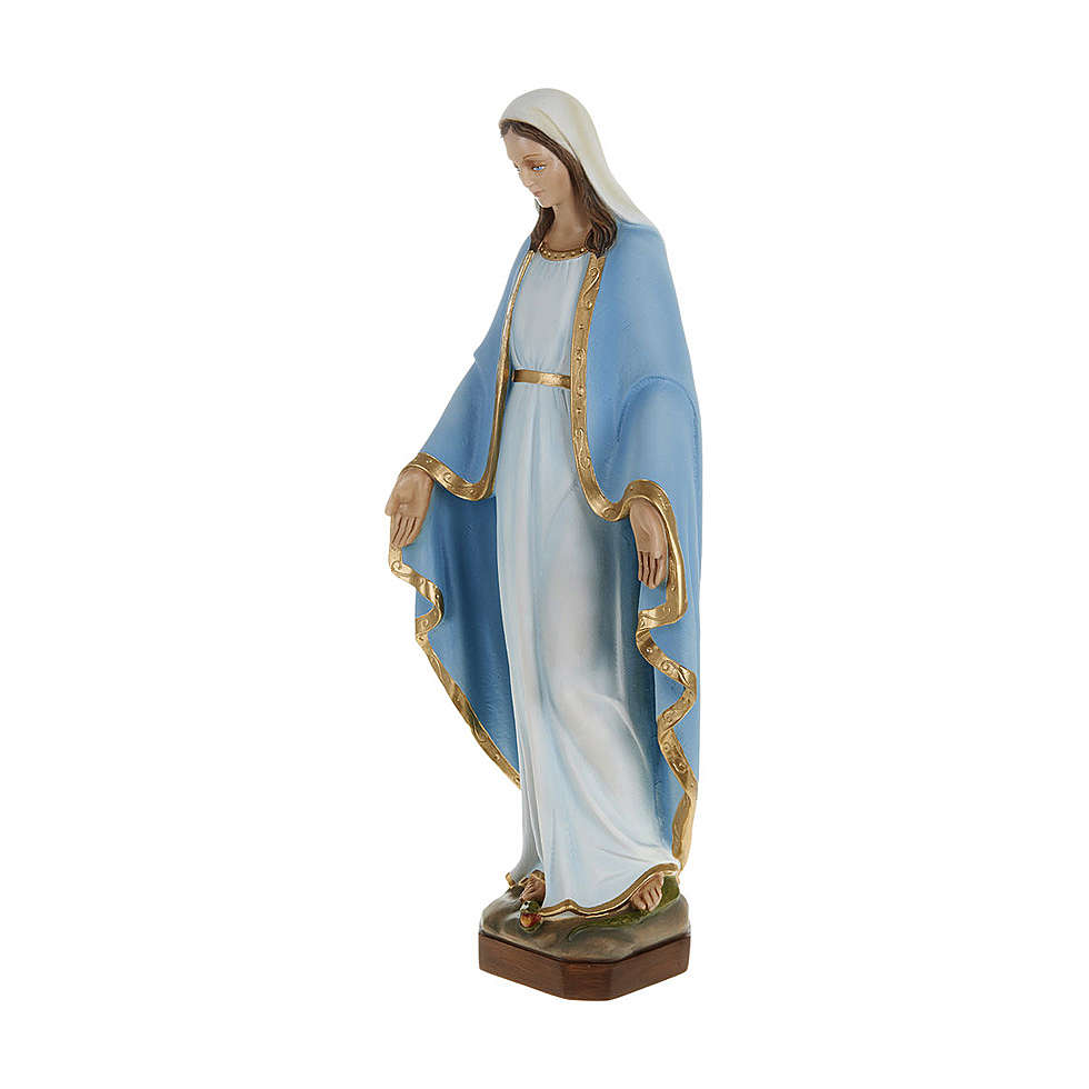 Statue of Our Lady of Miracles with sky blue cape in fibreglass 60 cm for EXTERNAL USE 4
