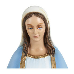 Statue of Our Lady of Miracles with sky blue cape in fibreglass 60 cm for EXTERNAL USE s2