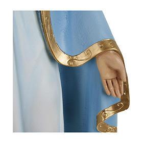 Statue of Our Lady of Miracles with sky blue cape in fibreglass 60 cm for EXTERNAL USE s6