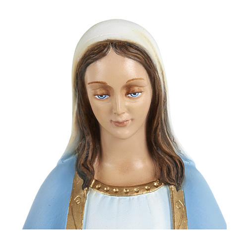 Statue of Our Lady of Miracles with sky blue cape in fibreglass 60 cm for EXTERNAL USE 2