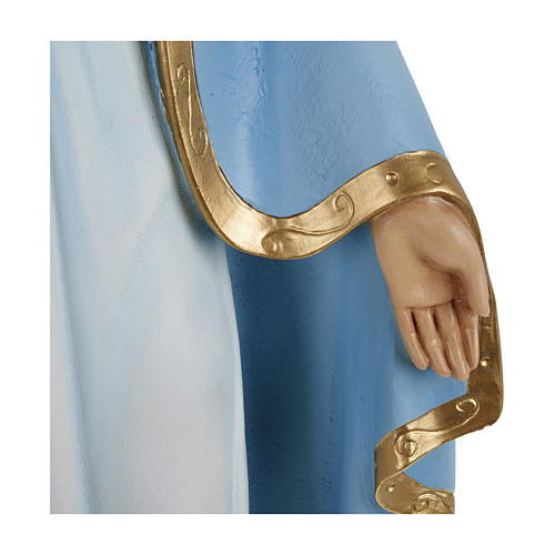 Statue of Our Lady of Miracles with sky blue cape in fibreglass 60 cm for EXTERNAL USE 6