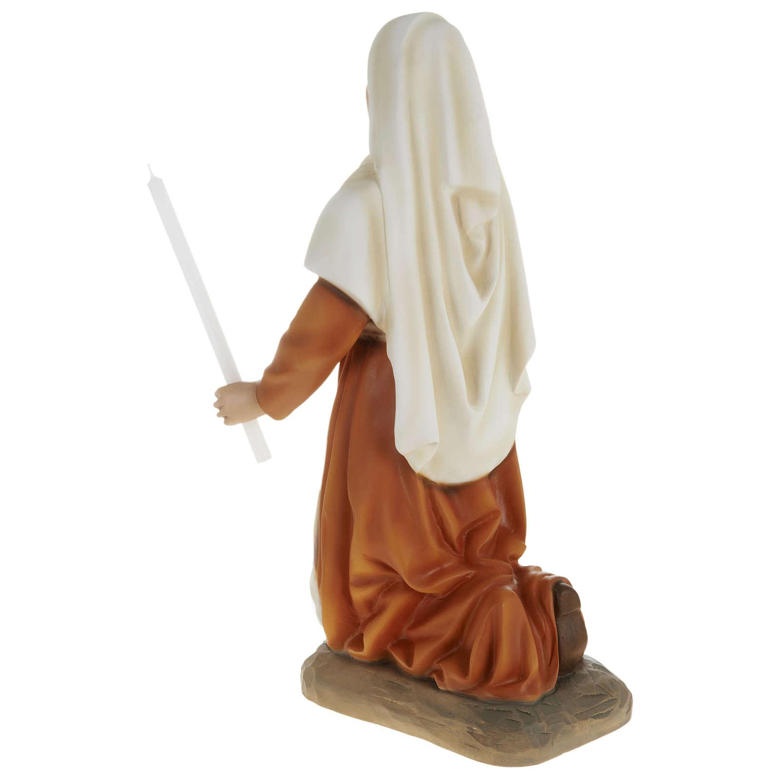 Statue of St. Bernadette in fibreglass 63 cm for EXTERNAL USE 4