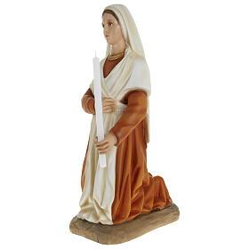 Statue of St. Bernadette in fibreglass 63 cm for EXTERNAL USE s4