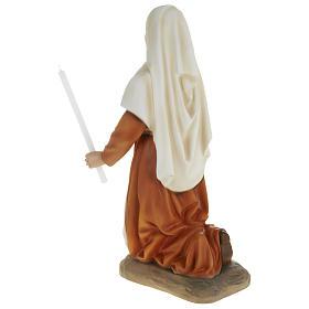 Statue of St. Bernadette in fibreglass 63 cm for EXTERNAL USE s6